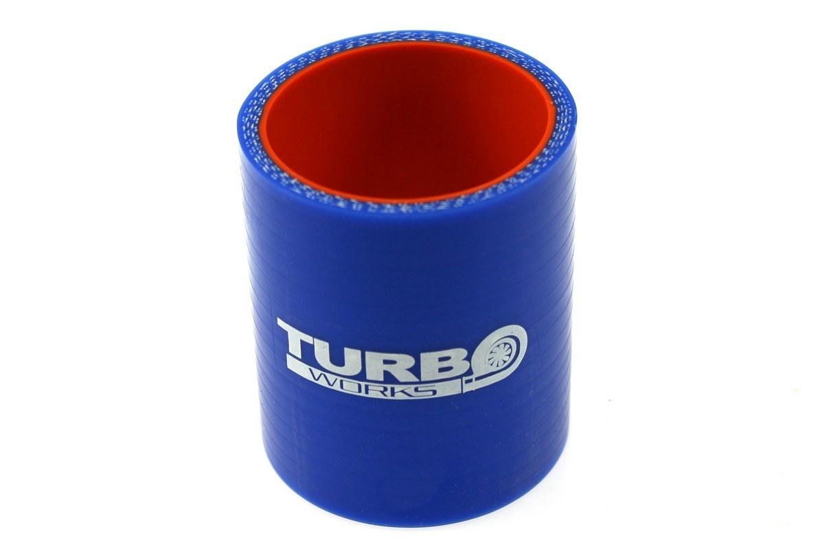 Łącznik TurboWorks Pro Blue 76mm - GRUBYGARAGE - Sklep Tuningowy